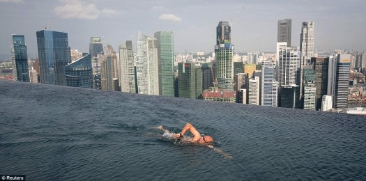 Natare's Infinity Pool on Top of the Marina Bay Sands, Singapore